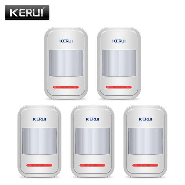 KERUI-détecteur de mouvement PIR sans fil | 5 pièces/lot, pour panneau de clavier tactile GSM PSTN, sécurité intérieure, système dalarme vocale pour cambrioleur