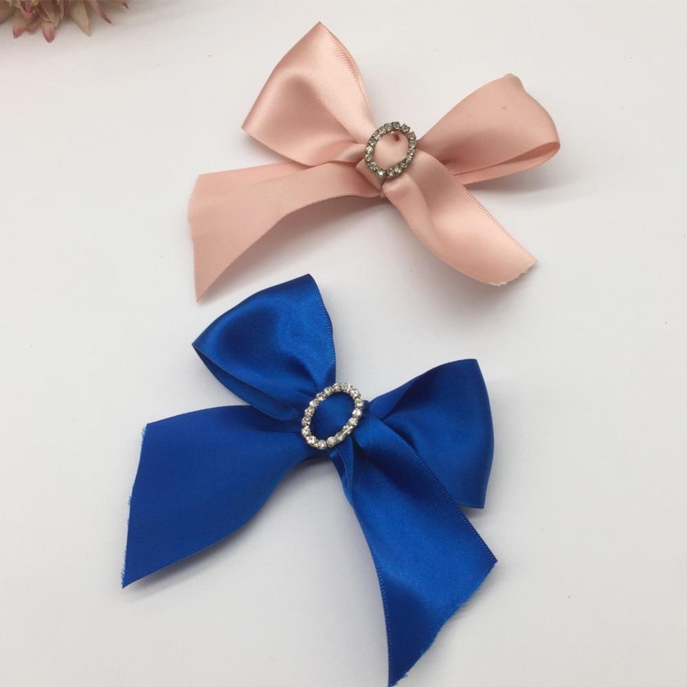 30 pcs Small Satin Ribbon Bows Flower Appliques sew Craft Kid/'s cloth Lots B128