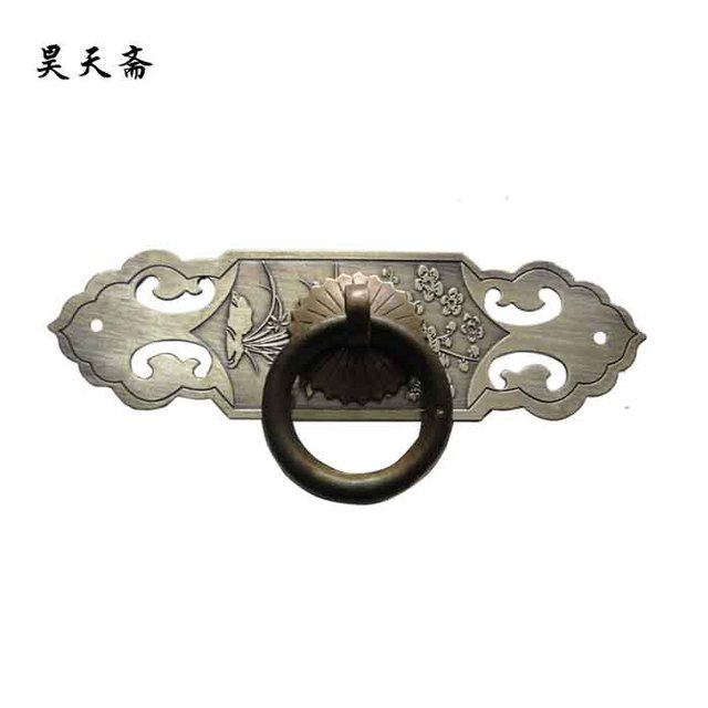 [Haotian vegetarian] antique furniture copper fittings / bookcase drawer handle / wardrobe drawer handle HTC-134