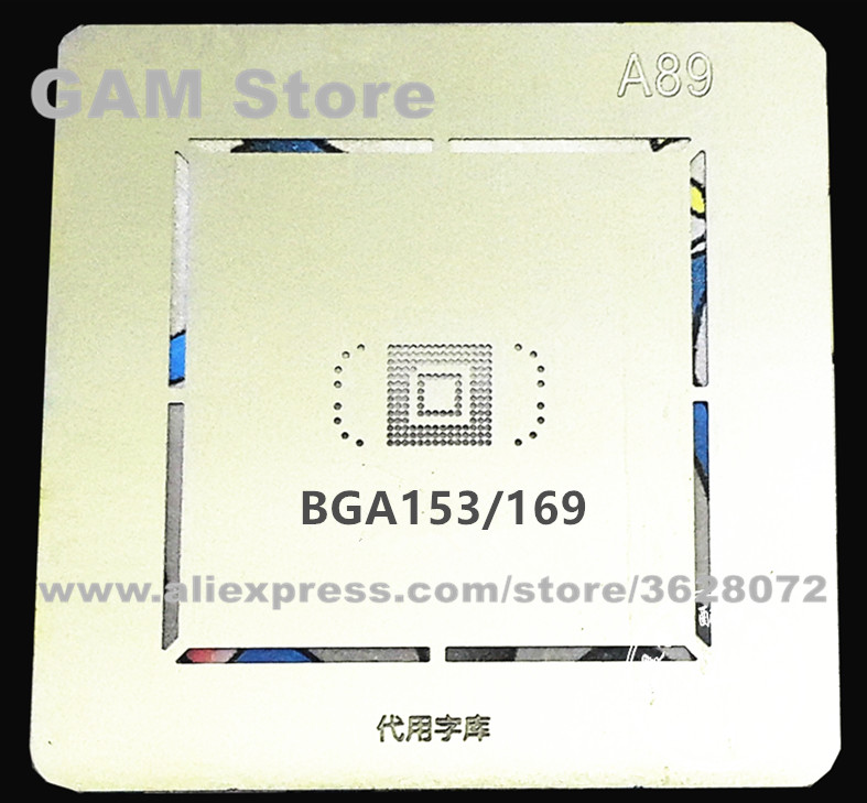 Трафарет для EMMC BGA169 153 BGA, реболлинга N7100 eMMC Pins BGA, шаблон прямого нагрева A89