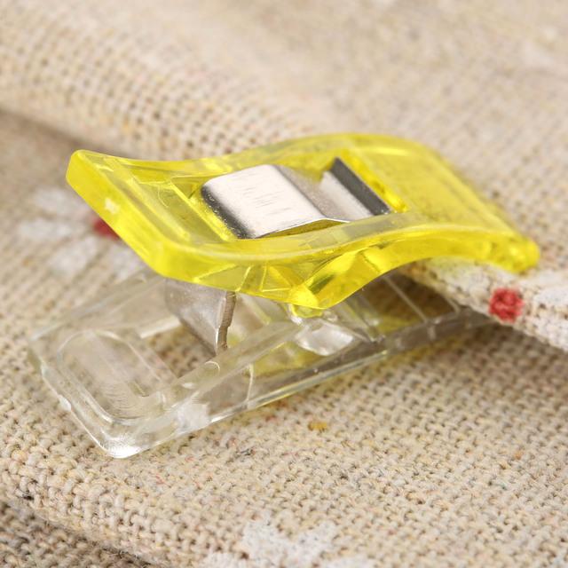 Clips de plástico de PVC 50 unids tamaño grande trébol manualidades edredón acolchado