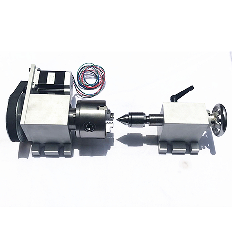 CNC Rotary Axis CNC Tailstock For CNC Milling Machine  4th Axis Rotary Axis With Chuck 80mm