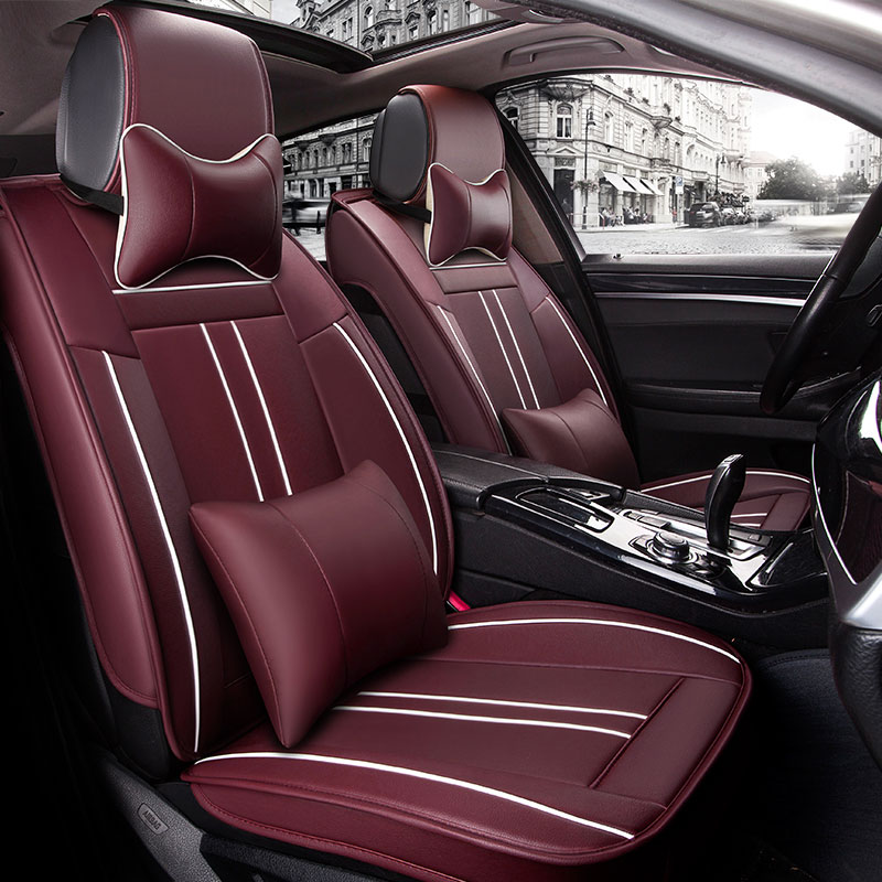Leather car seat cover covers auto accessories for land rover freelander 2 freelander2 range rover 2 3 sport x9 2017 2016 2015