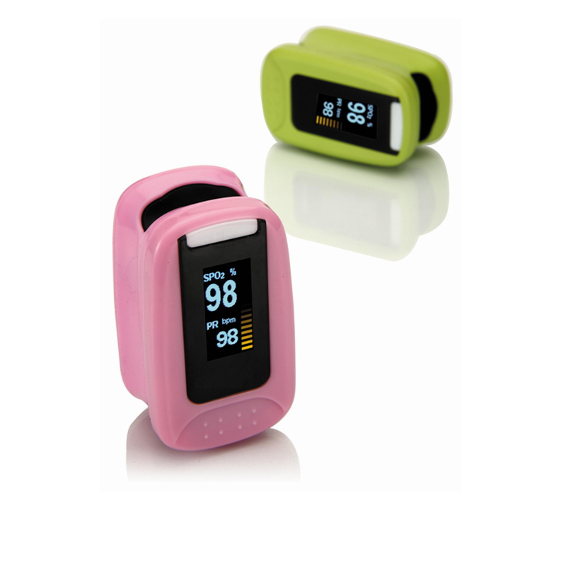 No key design Auto-orientation Multi-color Healthcare Fingertip Pulse Oximeter SPO2 Pulse Rate Monitor AH-8085
