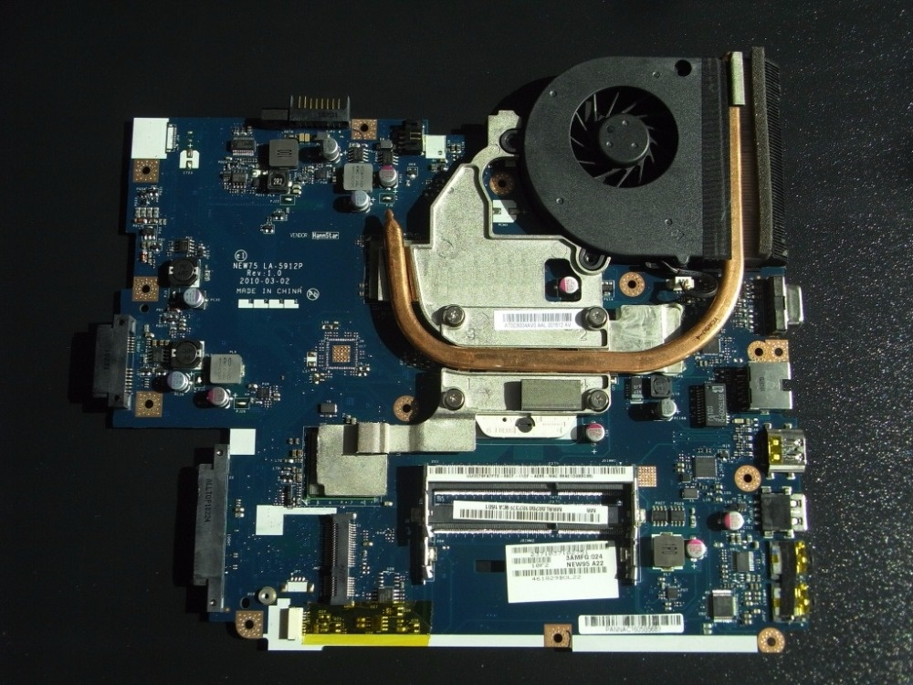 MBBL002001 Motherboard Für ACER Aspire 5551 LA-5912P mit kühlkörper statt 5552G LA-5911P kompatibel und eine kostenlose CPU