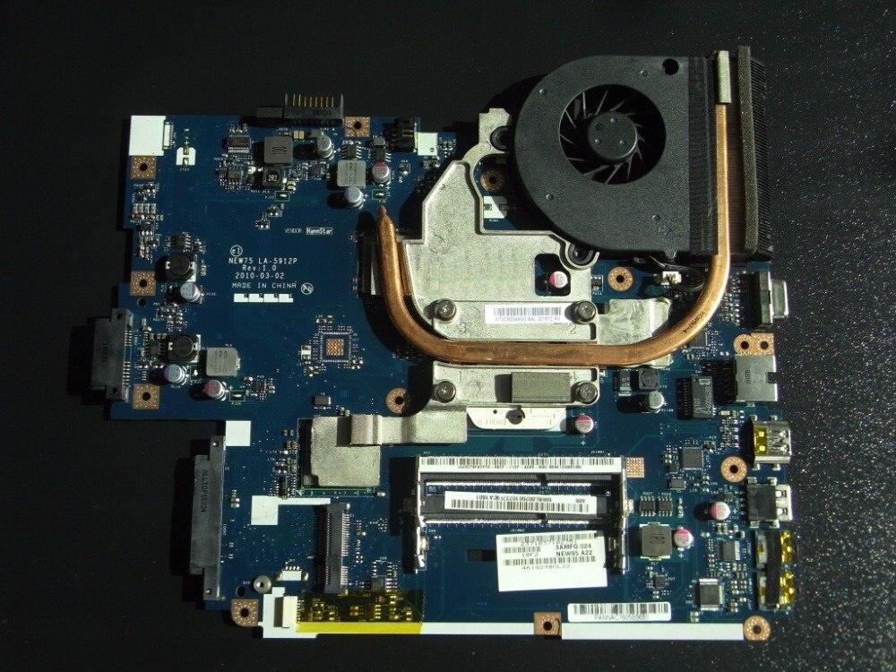 MBBL002001 carte mère pour ACER Aspire 5551 LA-5912P avec dissipateur thermique à la place 5552G LA-5911P compatible et un CPU gratuit