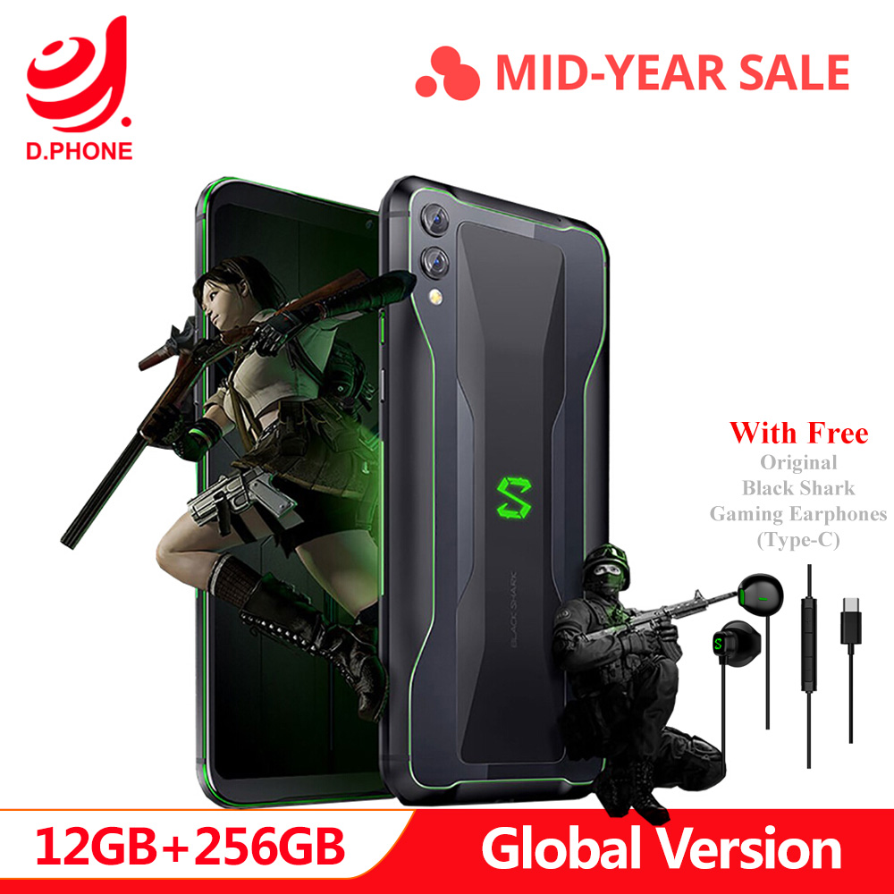 Global Versão Xiaomi Black Shark 2 12 GB 256 GB Gaming 48 + 12 MP Telefone Snapdragon 855 Núcleo octa câmera 4000 mAh Jogo Smartphone