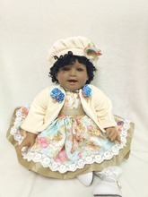 new arrival Limited black doll princess 55cm soft body silicone vinyl reborn baby dolls girls toys for kids 22inch fashion toy недорого