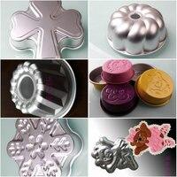 Оптовая продажа, Бесплатная доставка, большой размер алюминиевый сплав формы для выпечки кекса торт формы для выпечки инструмент моделиров...