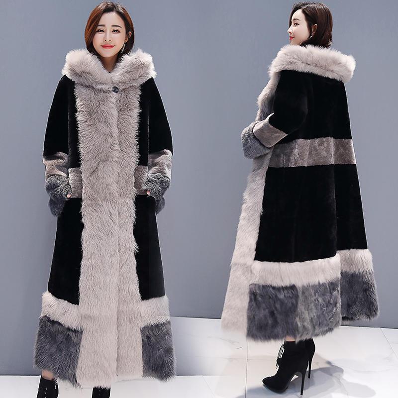 Зимняя куртка женская плюс бархатная теплая Толстая длинная шуба женская элегантная с длинным рукавом плюс размер зимняя куртка Женская Ст... - 3