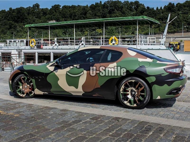 Jumbo Woodland Camo Vinyl Film Jumbo Militaire Groen Camouflage Vinyl Wrap Bubble Gratis Voor SUV TRUCK Jeep Wraps 30 m /Roll