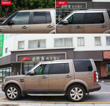 ABS Chrome plastic Window Visor Vent Shades Sun Rain Guard car accessories For Land Rover LR4 Discovery 4 2014-2016 car styling