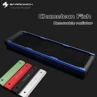 Barrowch FBCFR-360, Chameleon Fish Modular 360mm Radiators, Acrylic/POM Removable Radiators, Suitable For 120mm Fans