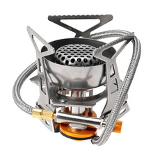 Mini Steel Outdoor Folding Gas Stove Camping Hiking Picnic Gas Burner 2900W Reliable&Firm Energy Saving Windproof