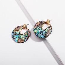 Joolim Jewelry Wholesale/ Trendy Round Resin Hoop Earring Chic Earrings for Women 2019