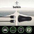Chegada nova 9 V/3A Tipo-C Rápida Carregador de Carro Belkin USB Original com usb-cabo de c para c para huawei p9 para galaxy s7 com pacote