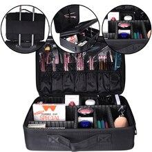 High Quality Large Capacity Women Professional Makeup Organizer Bolso Mujer Cosmetic Case Storage Bag Free Disassembly Suitcases цена в Москве и Питере
