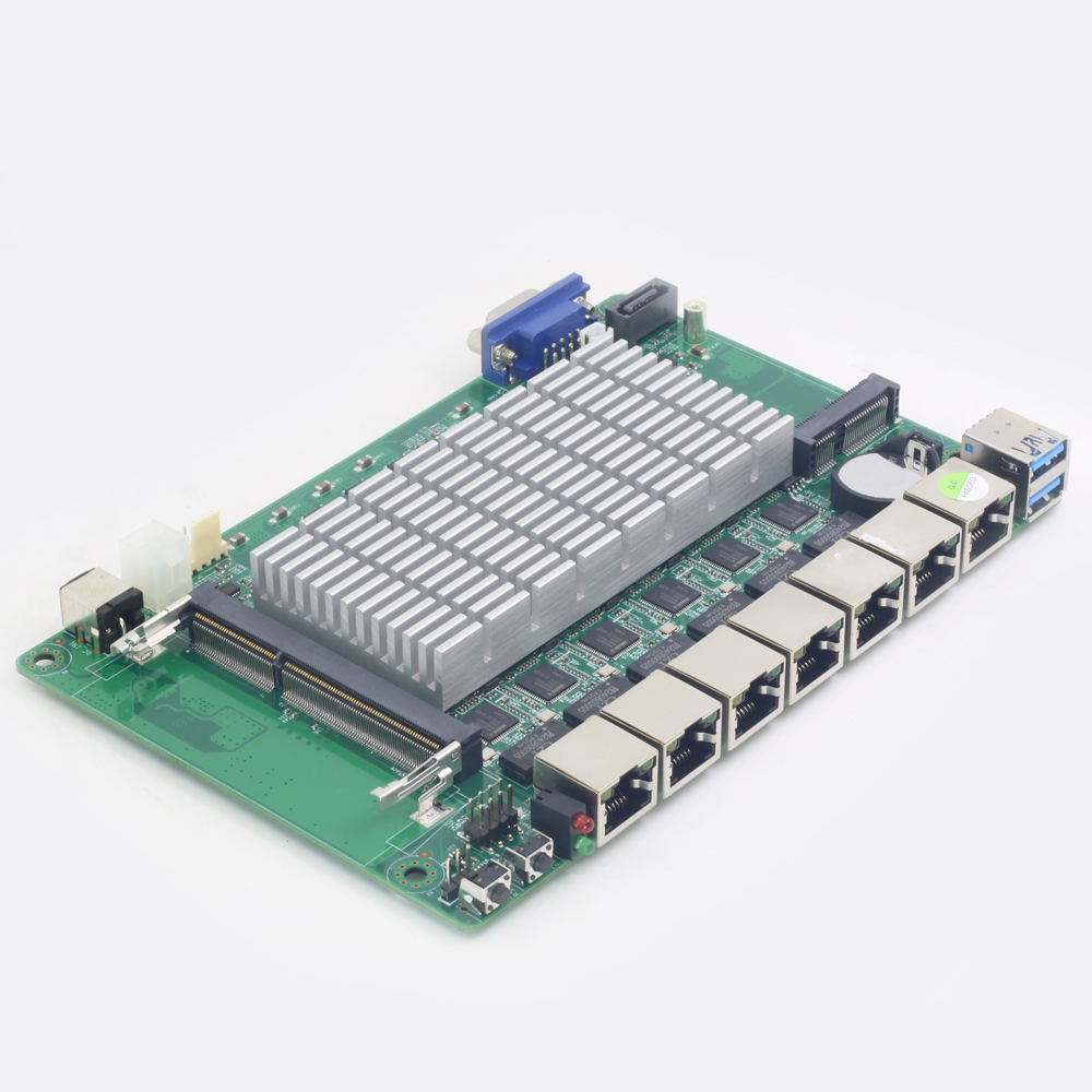 Fanless Mini PC Intel Celeron 1037U 1007U 6*Ethernet Gigabit LAN RJ45 Consel Firewall Gateway Appliance Soft Router Pfsense ROS