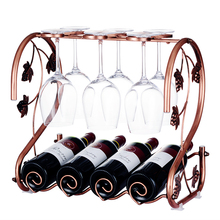 Creative wine rack decoration luxury household wine rack wine glass holder European simple wine rack fashion quality rose household wine rack baijiu home decoration iron wine holder