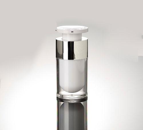 15ml cilindrische acryllessless fles met pomp, plastic - Huidverzorgingstools