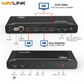 Wavlink USB C Universele Docking Station 5 k USB-C Gen1 Dual 4 k Display HD HDMI Power Levering USB 3.0 gigabit Ethernet Voor Mac OS