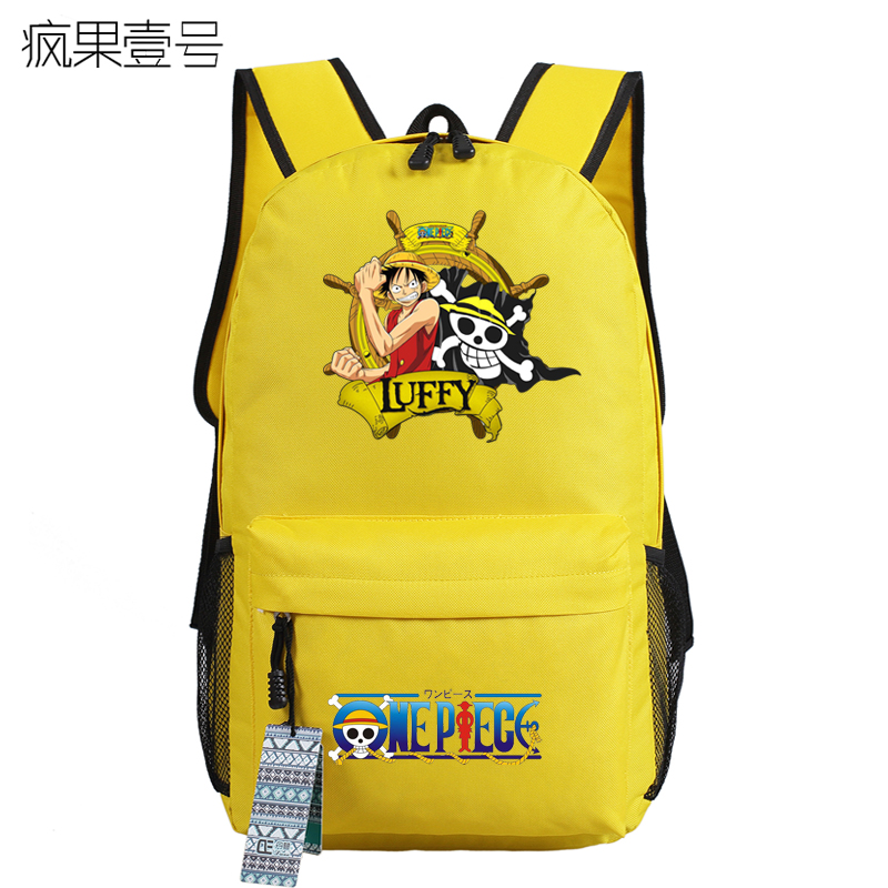 Anime onepiece Cosplay Monkey D Luffy 2017 new student campus backpack men and women backpack travel simple canvas bag
