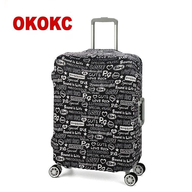 OKOKC Graffiti Travel Luggage Protective Cover