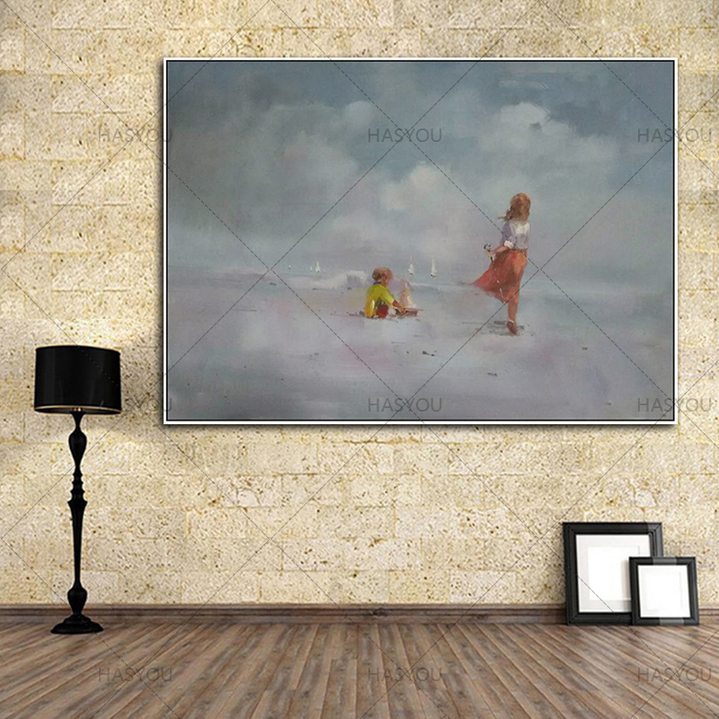 Hot Sale Beach landscape handmade Oil Painting Handpainted Painting On Canvas Wall Pictures For Home Decor Wall Decor Decoracion