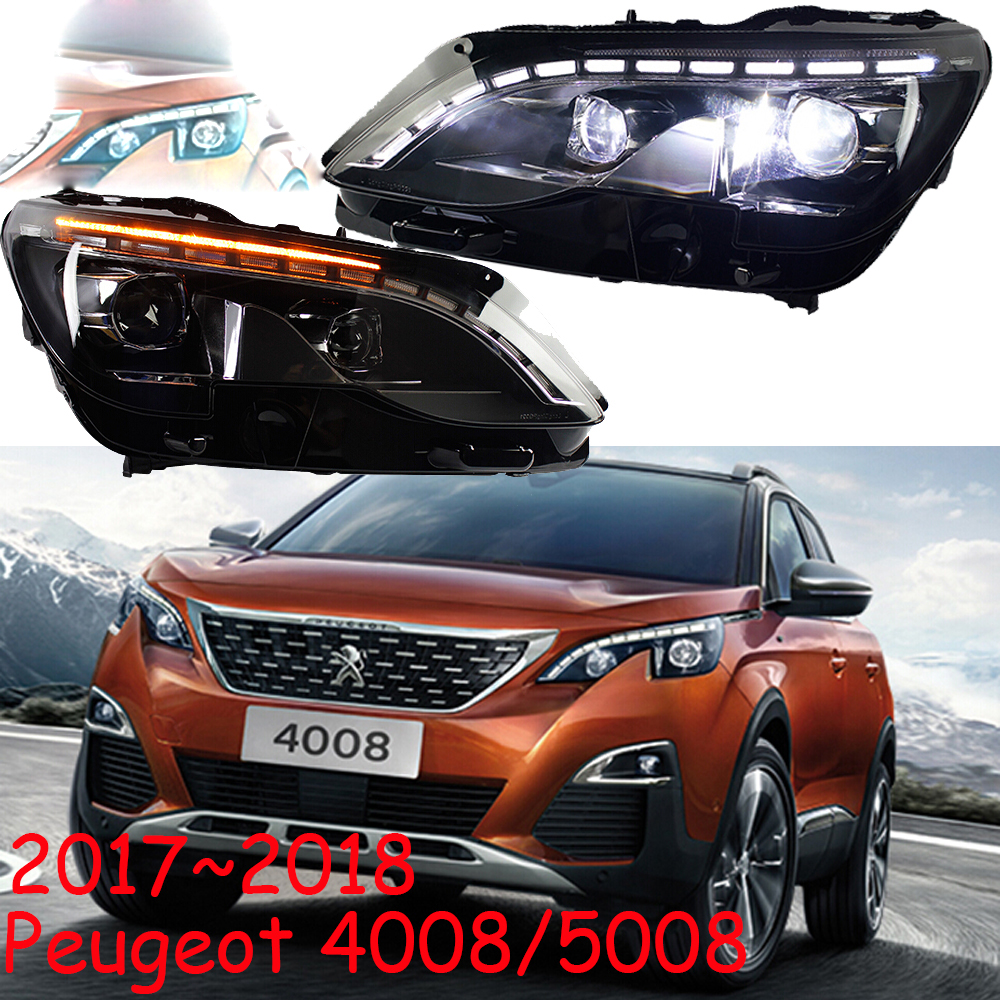HID,2017~2018,Car Styling for Peugeo 4008 5008 Headlight,insight,206 207 308 3008 408 4008 508 Raid RCZ,Partner,5008 head lamp
