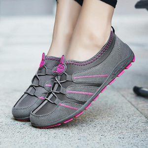 Image 4 - Chaussures de course à enfiler pour femmes, baskets pour femmes, de Sport, bleues, 2019