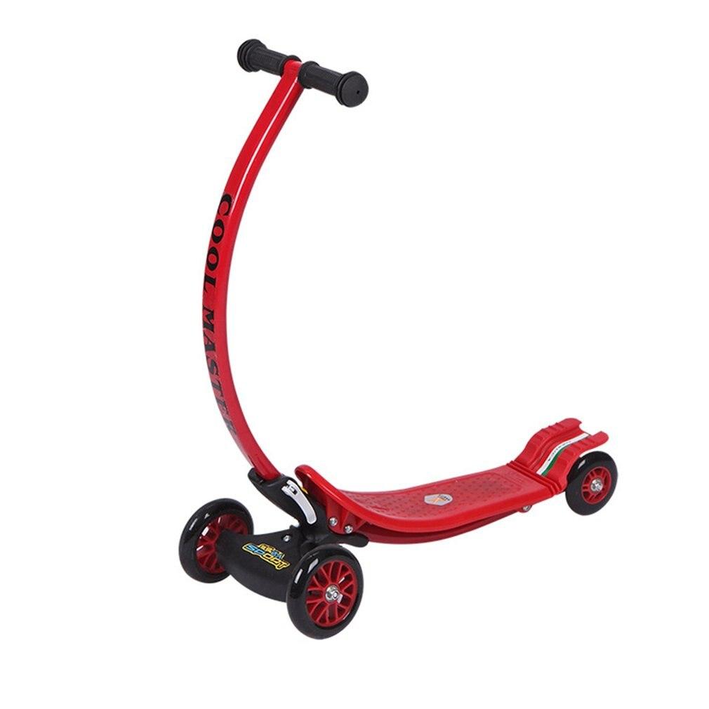 Упражнение дети игрушки гнуть Конструкция 4 колеса складной самокат городской роликовые скейтборд самокат Детский складной с задним ножным тормозом горячей
