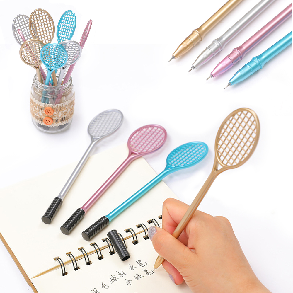 Racket For Slime PVC Badminton Pen Kids Toys Charms  Floam Putty Model Clay Tool DIY Fluffy Slime Form Crystal Kit Clear Slime
