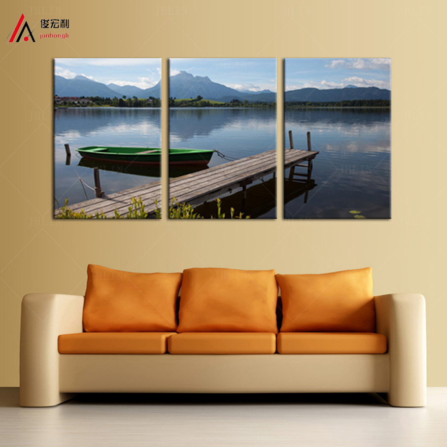 Popular lake dock buy cheap lake dock lots from china lake - Deco tableau mural ...