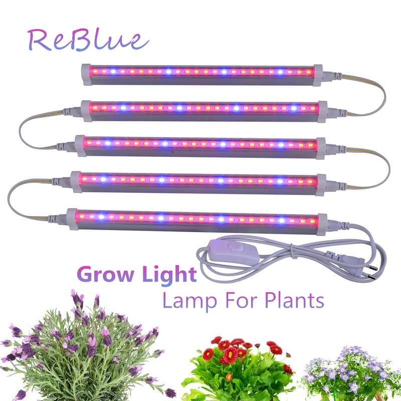 ReBlue Lamp For Plants Phyto-Lamp Led Grow Light 12W T5 Grow Light For Flower Full Spectrum Grow Led For Plants Indoor Bloom