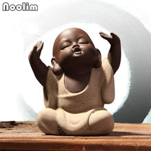 Handmade Little Buddha Monk Tea Pet Purple Clay Kong Fu Tea Accessories Boutique Tea Table Decoration Accessories(China)