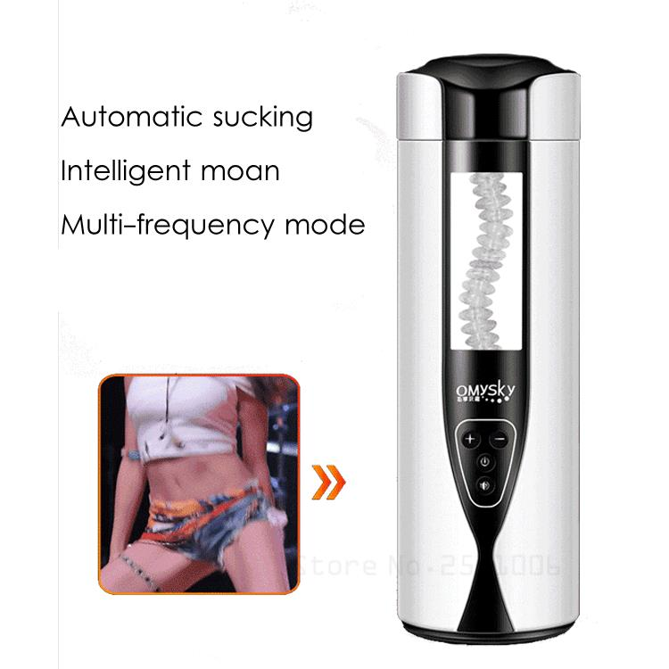 Male Masturbator Intelligent Heating Realistic Oral Masturbation Cup 10 Speeds Vibrating Electric Sex Toys for Men easy love l hands free electric masturbation cup 12 speeds usb rechargeable male masturbator sex machine sex toys for men
