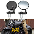 "Side mirrors New One Pair Handlebars Bar End Mirrors Motorbike 3""round 7/8"" Rearview Back Mirror"