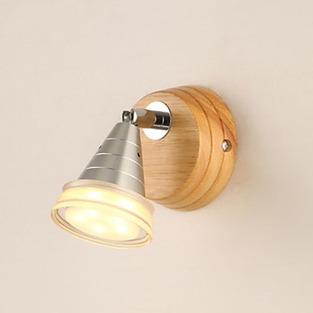 Wooden Acrylic Modern Wall Sconces Wooden Wall Lights For Home Indoor Lighting Bedside LED Wall Lamp Aluminum