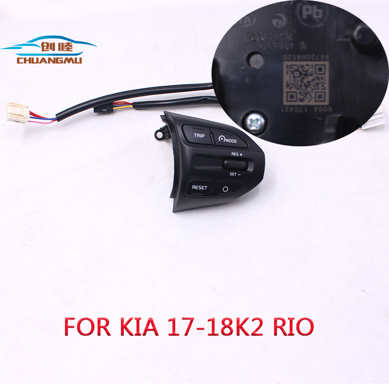 chuangmu Steering Wheel Button For KIA K2 RIO 2017 2018 RIO X LINE Buttons Bluetooth Phone