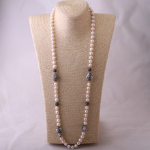 36ee7a57c829 Moda Bohemia joyería perlas anudado Halsband pavimentada collar de perlas  de agua dulce para mujeres Jewelres regalo