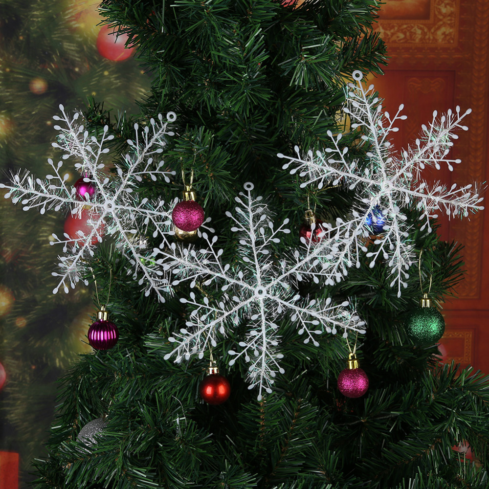 Foto Alberi Di Natale Bianchi us $0.39 35% di sconto|3 pcs fiocchi di neve di natale albero di natale  appeso ornamento di natale decorazioni per la casa di inverno decorazione  di
