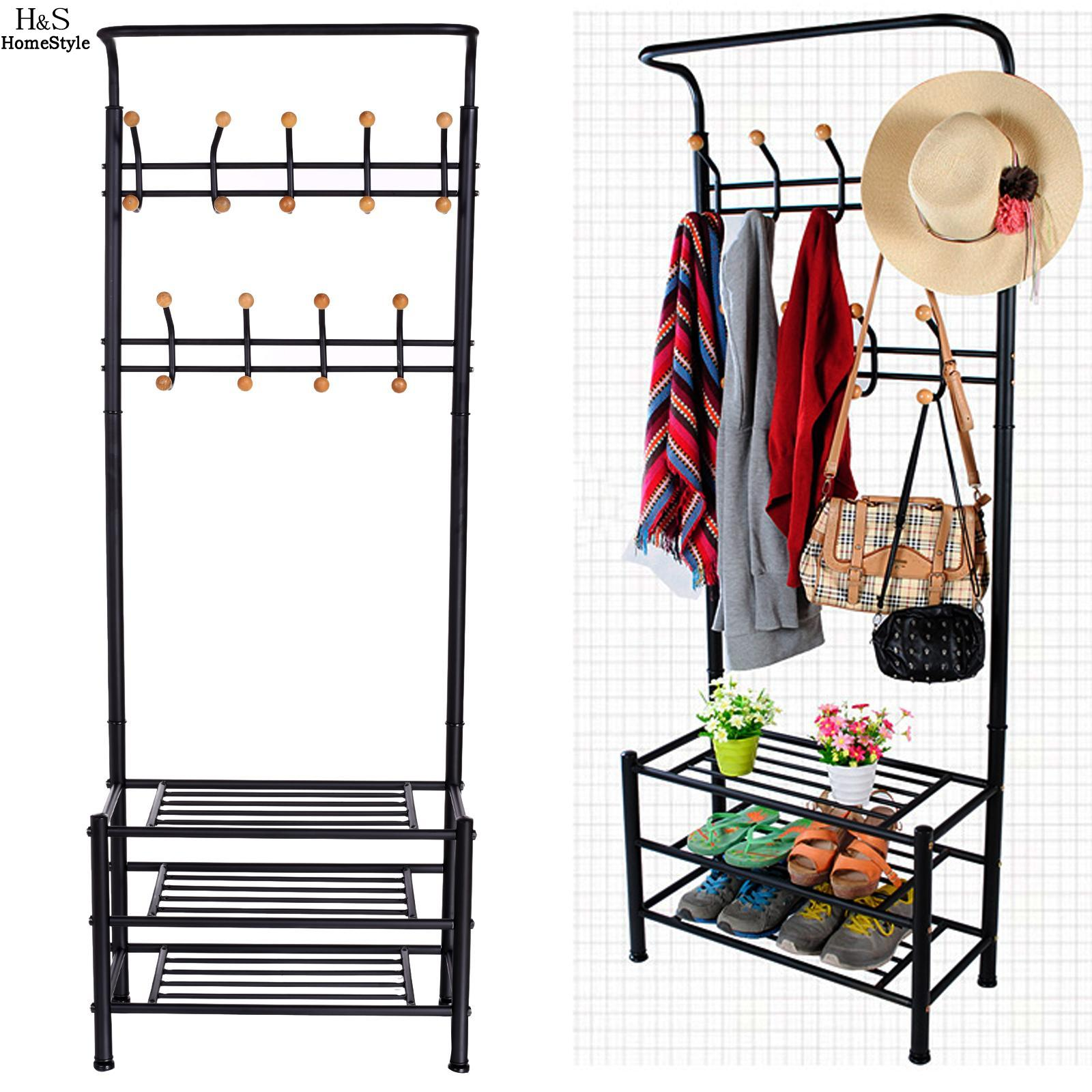 Homdox Coat Rack Stainless Steel Nonwovens Simple Assembly Bedroom Hanging Storage Clothes Hanger Wardrobe actionclub multifunction triangle simple coat rack stainless steel removable clothes hanging hanger floor stand coat rack wheels