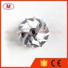 GT15 25 436132 0003 1701 업그레이드 터보 차저 알루미늄 2024/밀링/빌렛 컴프레서 휠 다양한 34.42/49.00mm 6 + 6 블레이드