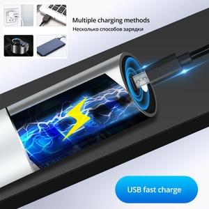 Image 3 - USB Перезаряжаемый простой Креативный светодиодный фонарик из алюминиевого сплава фокус 3 режима освещения 200 метров Расстояние освещения