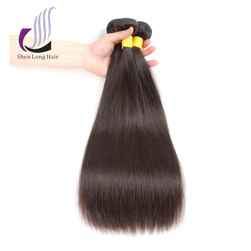 SHENLONG HAIR Mongolian Straight Human Hair Bundles 8-26 tums - Mänskligt hår (svart)