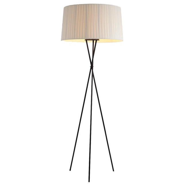 Creative Simple Floor Lamps Fabric White Black Red Lampshade Standing Lamp Living Room Bedroom Home Decoration Lighting