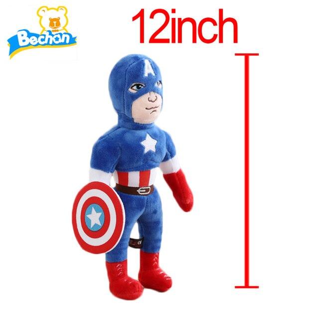 Новые Плюшевые Мстители Плюшевые Игрушки Железный Человек Халк Брюс Баннер тор Капитан Америка Плюшевые Куклы Мягкие Мягкие Игрушки Подарок Для Детей