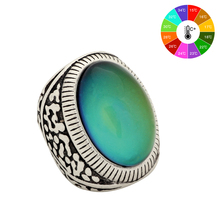 Mojo Vintage Bohemia Retro Color Change Mood Ring Emotion Feeling Changeable Ring Temperature Control Ring for Women MJ-RS031