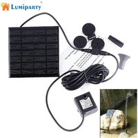 LumiParty Solar Powered Fountain Water Pump 1 2W 7V Energy Saving Submersible Solar Water Pumps For