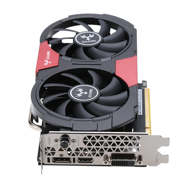 Graphics Cards For Bitcoin Miner PCI-E Riser For Colorful NVIDIA GeForce GTX iGame 1050Ti 4GB GDDR5 128bit Graphics Video Card